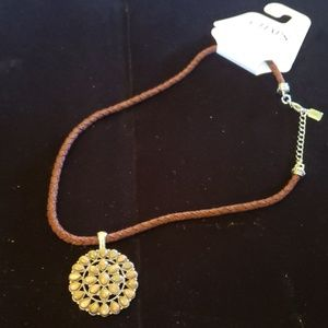 Chaps pendant  cord necklace NWT
